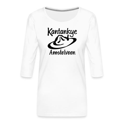 logo naam hoed amstelveen - Vrouwen premium shirt 3/4-mouw