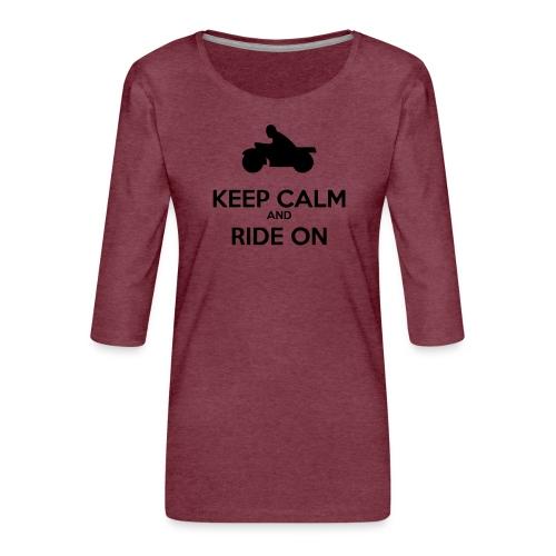 Keep Calm MC - Premium-T-shirt med 3/4-ärm dam