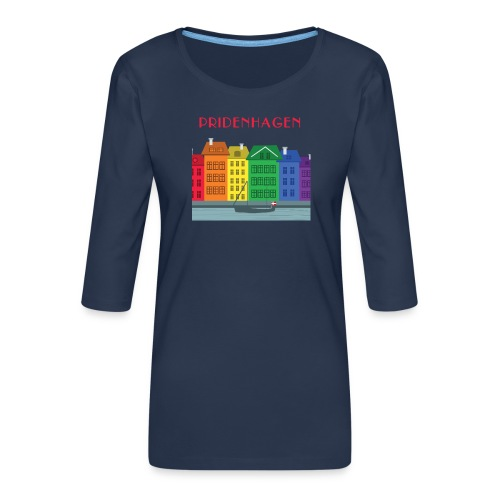 PRIDENHAGEN NYHAVN T-SHIRT - Dame Premium shirt med 3/4-ærmer