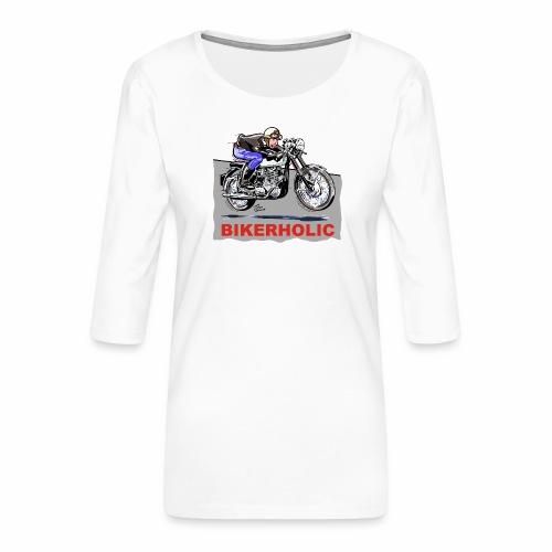bikerholic - Women's Premium 3/4-Sleeve T-Shirt
