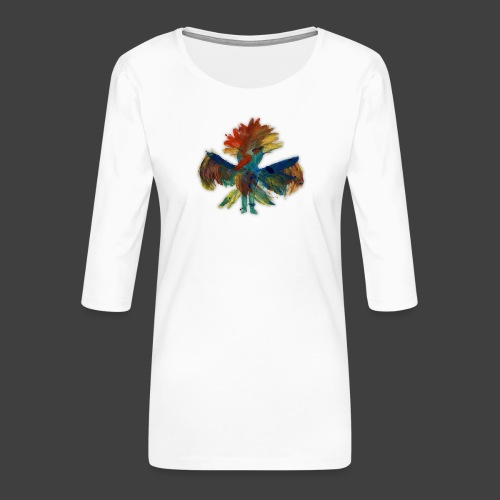 Mayas bird - Women's Premium 3/4-Sleeve T-Shirt