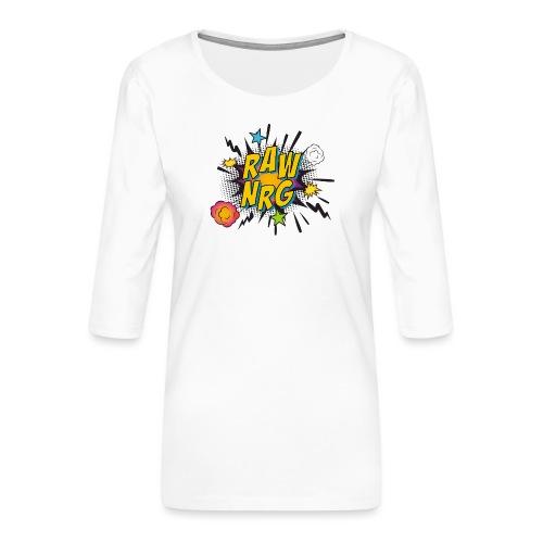 Raw Nrg comic 1 - Women's Premium 3/4-Sleeve T-Shirt