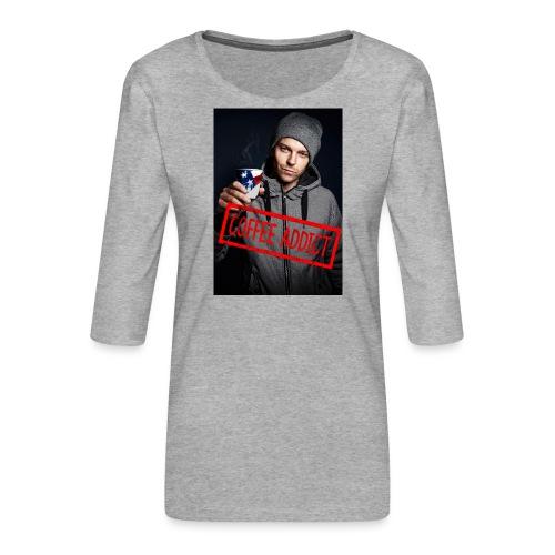 Coffee addiction - Women's Premium 3/4-Sleeve T-Shirt
