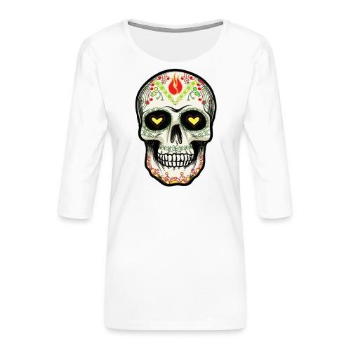 TETE DE MORT 1 - T-shirt Premium manches 3/4 Femme