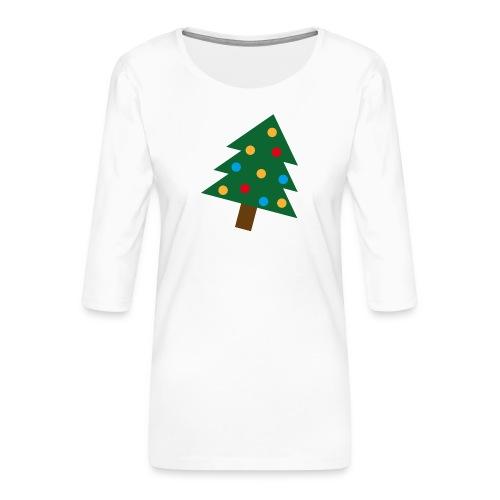 Weihnachtsbaum für hässliche Weihnachten - Frauen Premium 3/4-Arm Shirt
