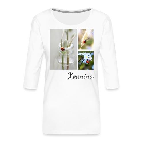 Xoaniña1 - Camiseta premium de manga 3/4 para mujer