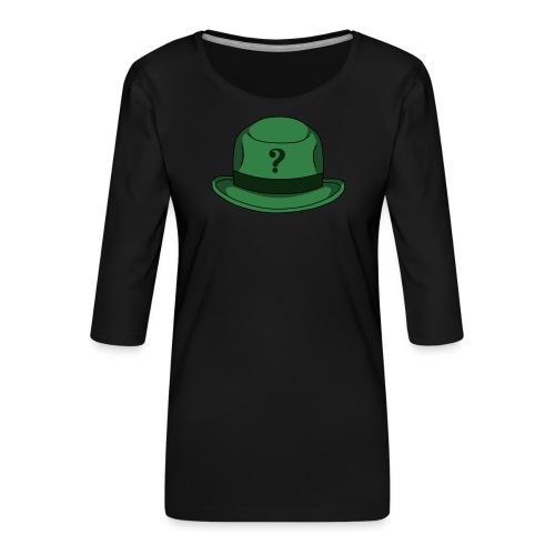 Grüner Rätsel Hut Riddler - Frauen Premium 3/4-Arm Shirt
