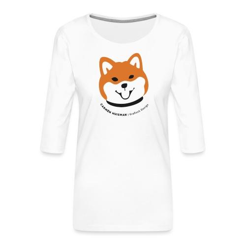 Shiba Inu collectie - Vrouwen premium shirt 3/4-mouw