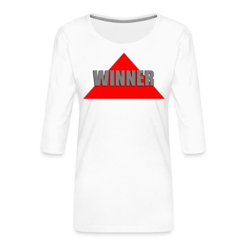 Winner, by SBDesigns - T-shirt Premium manches 3/4 Femme