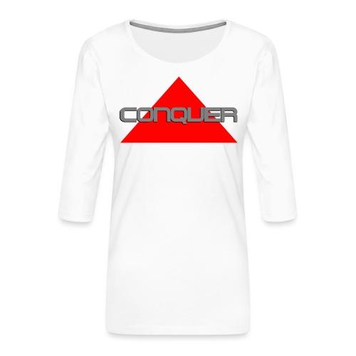 Conquer, by SBDesigns - T-shirt Premium manches 3/4 Femme