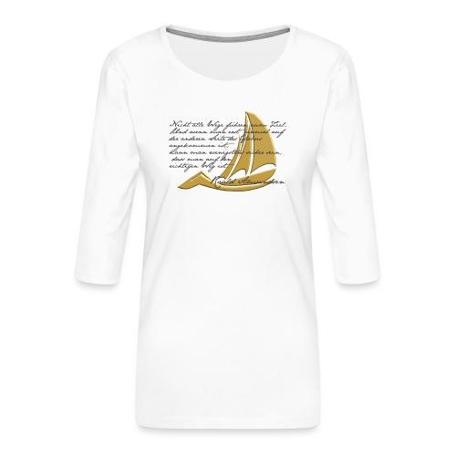 weltumsegeln - Frauen Premium 3/4-Arm Shirt