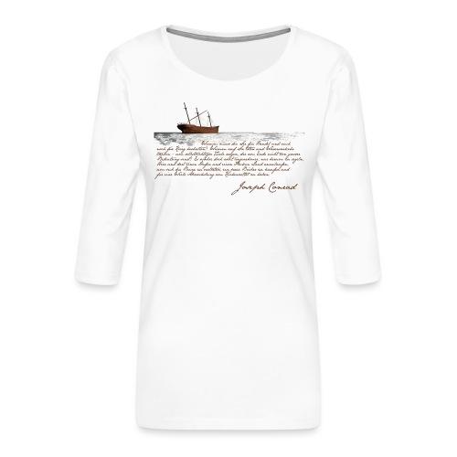 conradwrack - Frauen Premium 3/4-Arm Shirt