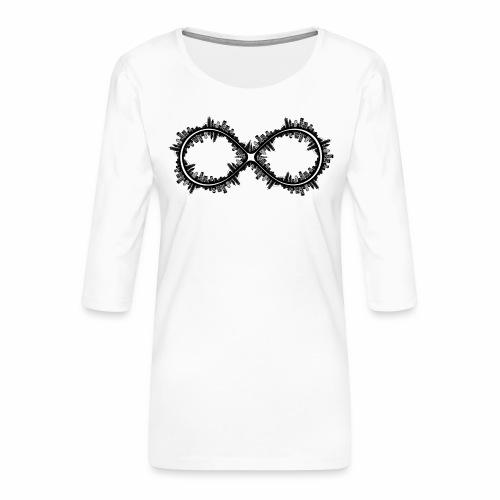 Infinite Skyline - Maglietta da donna premium con manica a 3/4