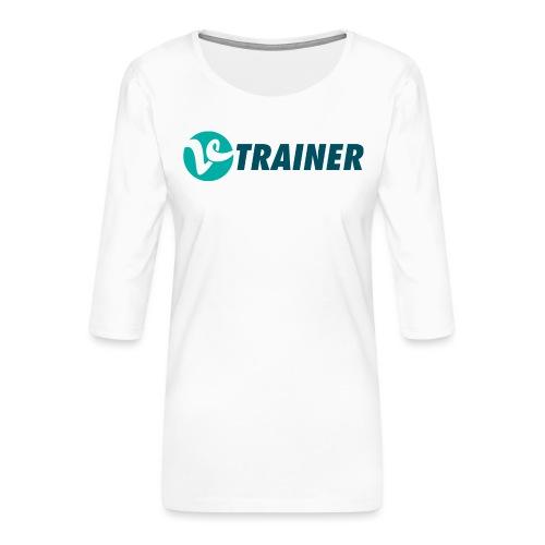 VTRAINER - Camiseta premium de manga 3/4 para mujer
