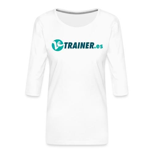 VTRAINER.es - Camiseta premium de manga 3/4 para mujer