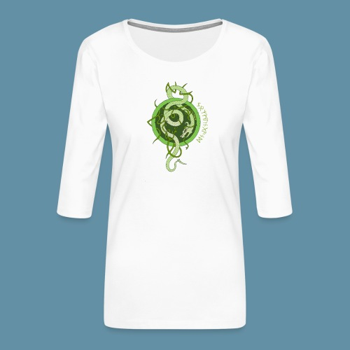 Jormungand logo png - Maglietta da donna premium con manica a 3/4