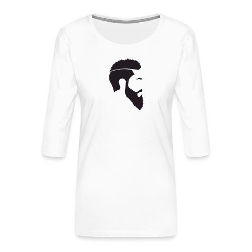 HEAD WHITE T-SHIRT - Premium-T-shirt med 3/4-ärm dam