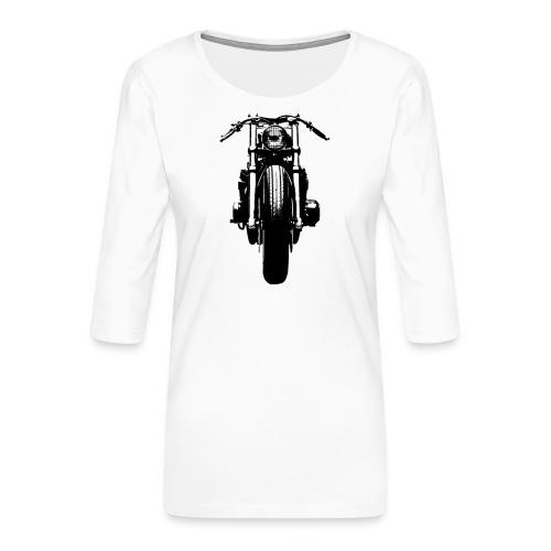Motorcycle Front - Women's Premium 3/4-Sleeve T-Shirt