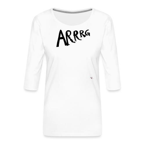 Arrg - Maglietta da donna premium con manica a 3/4