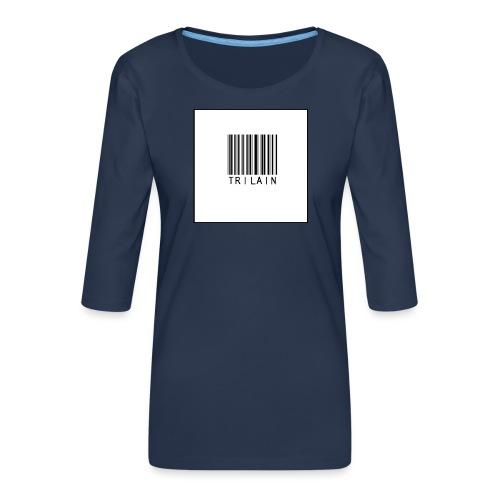 Trilain - Standard Logo T - Shirt - Vrouwen premium shirt 3/4-mouw
