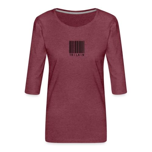 Trilain - Standard Logo T - Shirt White - Vrouwen premium shirt 3/4-mouw