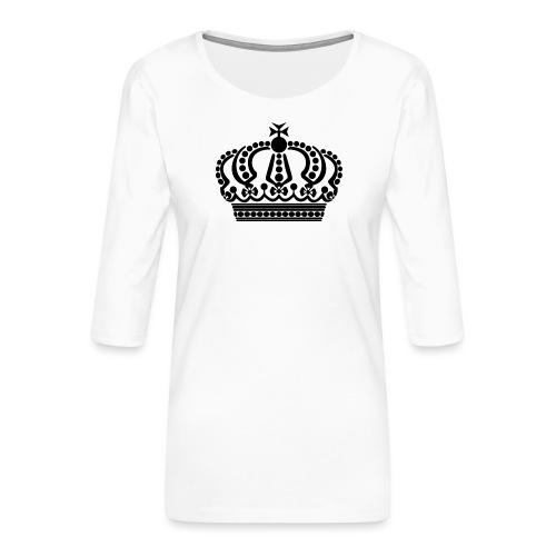 kroon keep calm - Vrouwen premium shirt 3/4-mouw