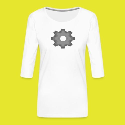 kugghjul - Premium-T-shirt med 3/4-ärm dam