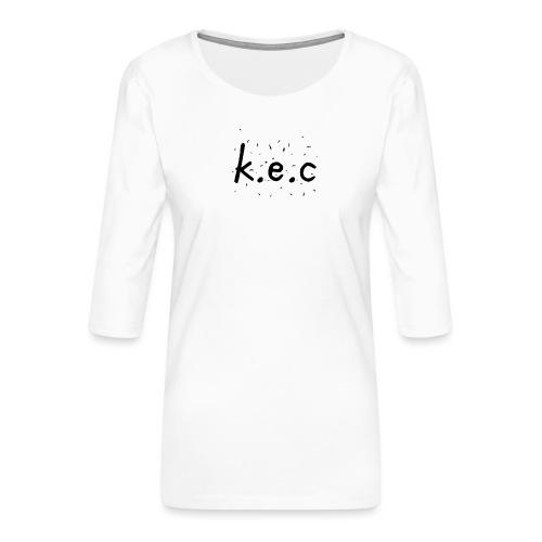 K.E.C basball t-shirt - Dame Premium shirt med 3/4-ærmer