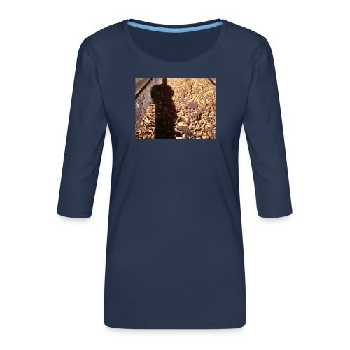THE GREEN MAN IS MADE OF AUTUMN LEAVES - Women's Premium 3/4-Sleeve T-Shirt