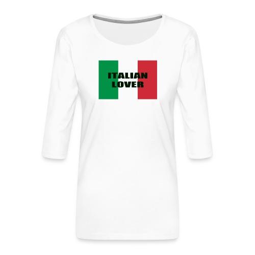 ITALIAN LOVER - Maglietta da donna premium con manica a 3/4