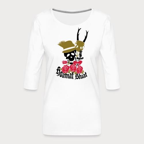 hoamat bluat - Frauen Premium 3/4-Arm Shirt