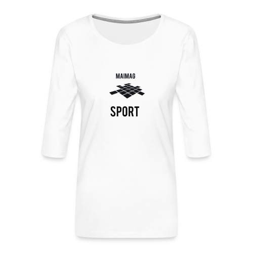 L9 mejor - Camiseta premium de manga 3/4 para mujer