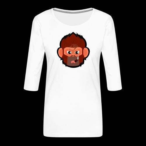 PoGo Mask t-shirt - Dame Premium shirt med 3/4-ærmer