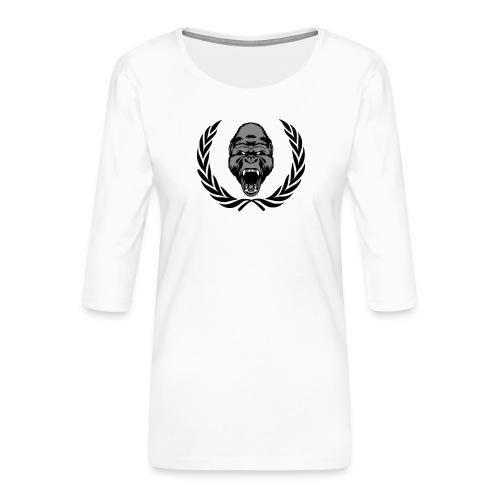 therealkingdomoficial - Camiseta premium de manga 3/4 para mujer