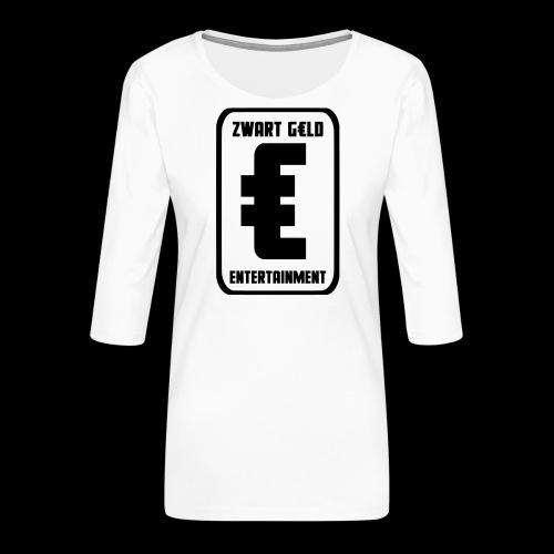 ZwartGeld Logo Sweater - Vrouwen premium shirt 3/4-mouw