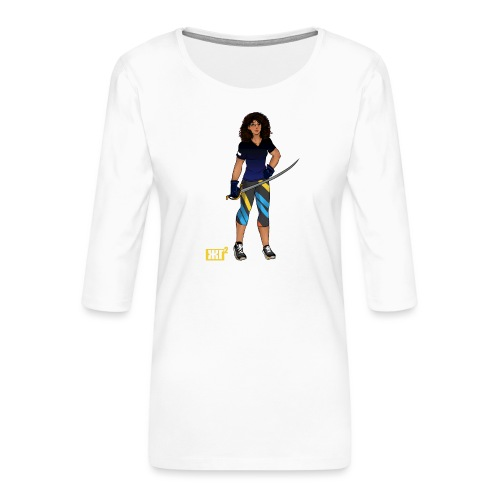 Sabre fencer - Women's Premium 3/4-Sleeve T-Shirt