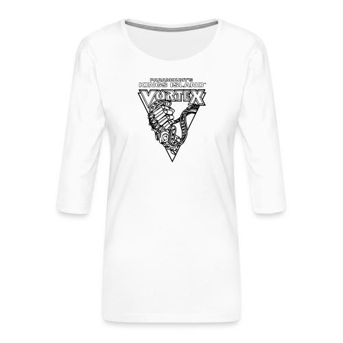 Vortex 1987 2019 Kings Island - Naisten premium 3/4-hihainen paita