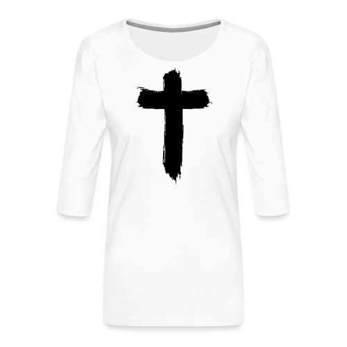Brushed-Cross - Frauen Premium 3/4-Arm Shirt