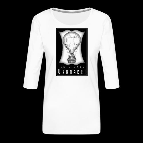 logotipo de ediciones Vernacci - Camiseta premium de manga 3/4 para mujer
