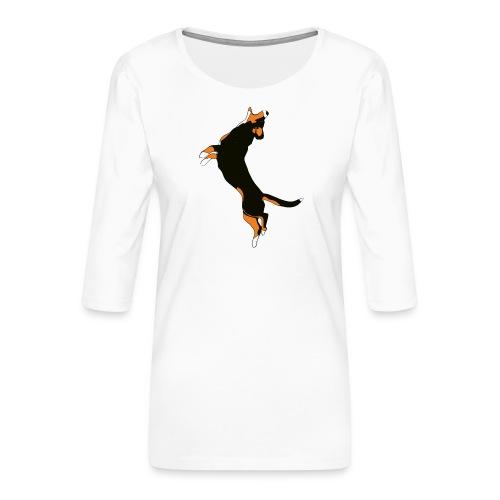 Entlebucher - Premium-T-shirt med 3/4-ärm dam