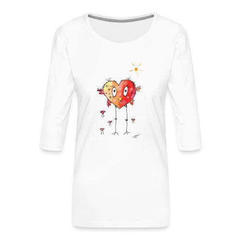 Happy heart - Frauen Premium 3/4-Arm Shirt