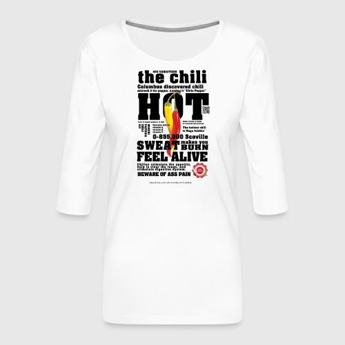 chili - Dame Premium shirt med 3/4-ærmer