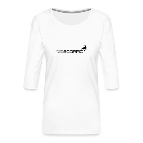 scorpio logo - Vrouwen premium shirt 3/4-mouw