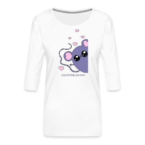 Minimi la souris - T-shirt Premium manches 3/4 Femme