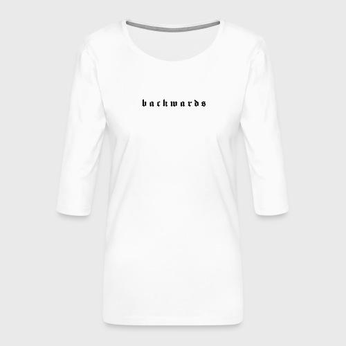 Backwards - Vrouwen premium shirt 3/4-mouw