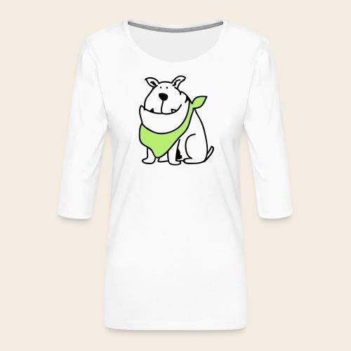 Bouledogue mignon - T-shirt Premium manches 3/4 Femme