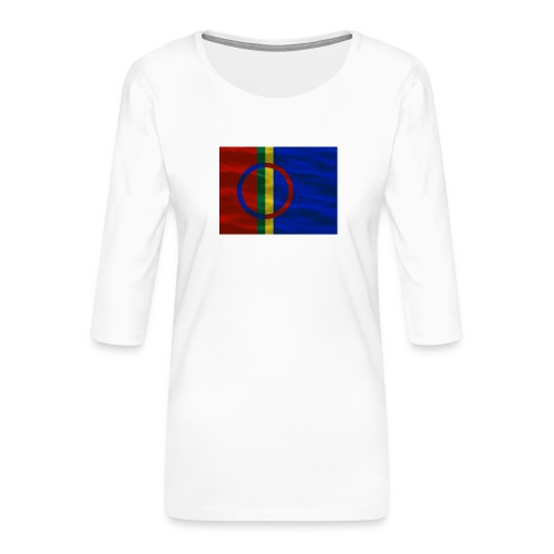 Sapmi flag - Premium T-skjorte med 3/4 erme for kvinner