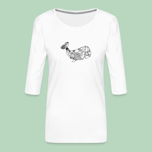 Plastic walvis - Vrouwen premium shirt 3/4-mouw