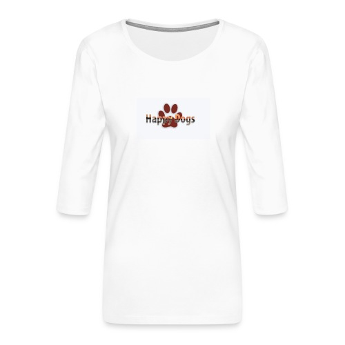 Happy dogs - Frauen Premium 3/4-Arm Shirt