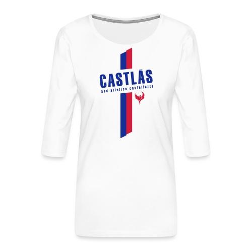CASTLAS - Maglietta da donna premium con manica a 3/4